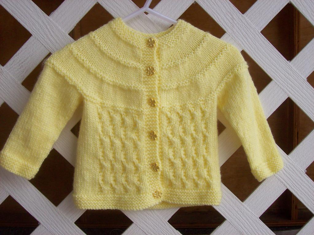 Baby Girl Sweater Patterns Knitting : Baby Sweater Knitting Pattern A Knitting Blog