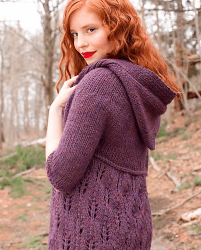 Knitting Pattern Hooded Cardigan : Knitted Pattern For Hooded Baby Sweater - Cardigan With ...