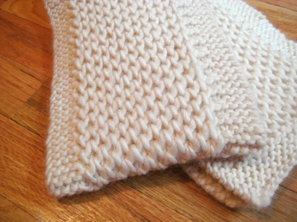 Chunky Knit Scarf Pattern | A Knitting Blog