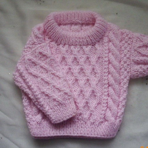 Free Baby Sweater Knit Patterns : Baby Sweater Cable Knitting Pattern - Long Sweater Jacket