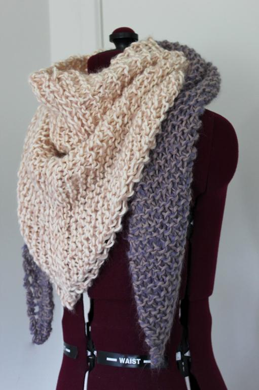 Knitting Pattern Of Scarf : Triangle Scarf Knitting Pattern A Knitting Blog