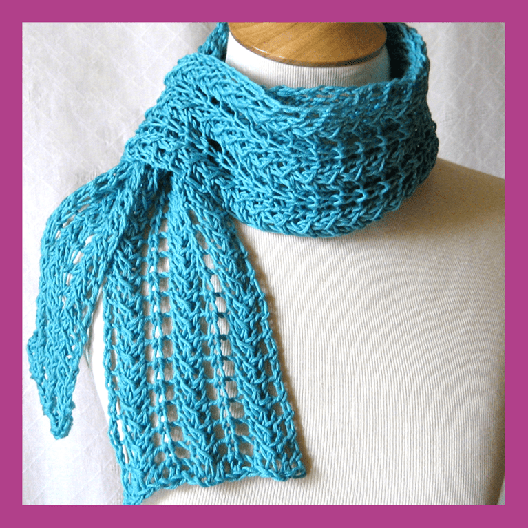 Scarf Knitting Pattern : Lace Scarf Knitting Pattern A Knitting Blog