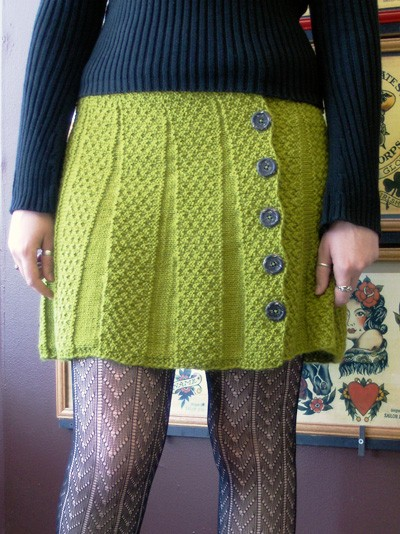 Knitting Skirt Tutorial : Knit skirt pattern a knitting
