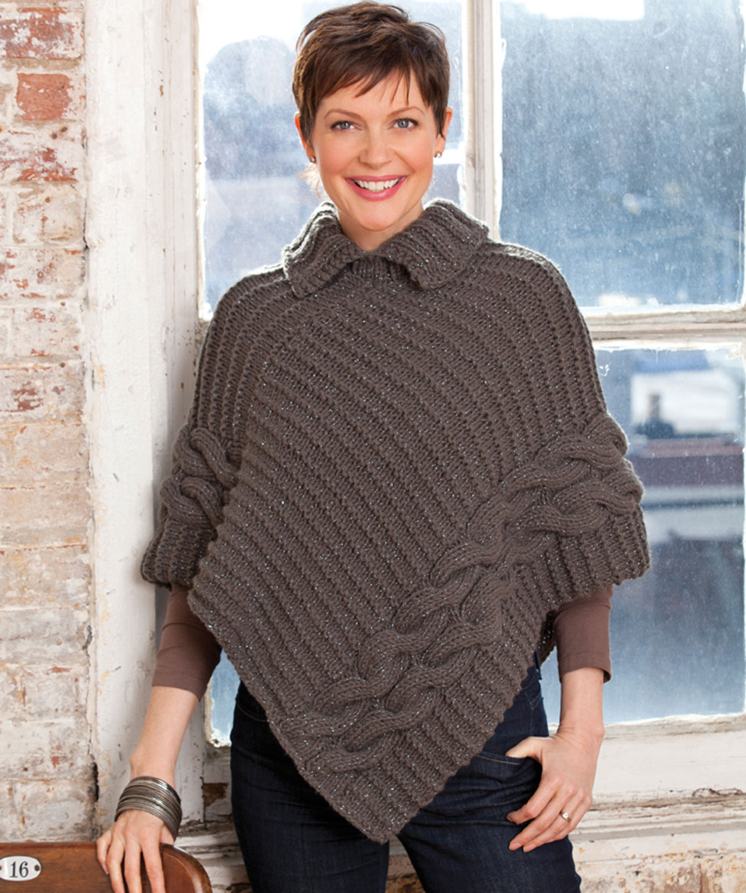 Knit Poncho Free Pattern : free knitting poncho patterns Quotes
