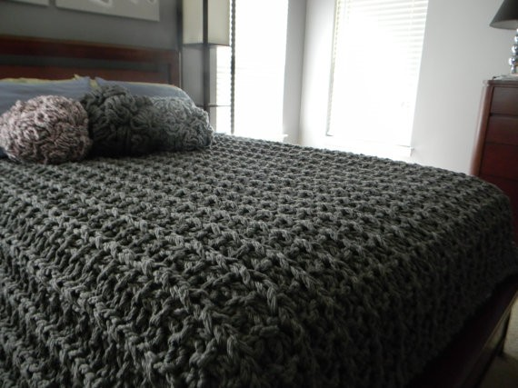 Baby Shawls Knitting Patterns Free : Chunky Knit Blanket Pattern A Knitting Blog