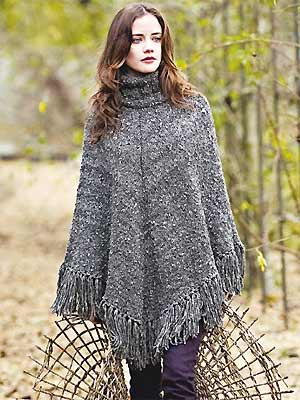 Pattern For Knitted Poncho : Free Loom Knit Poncho Pattern Dog Breeds Picture