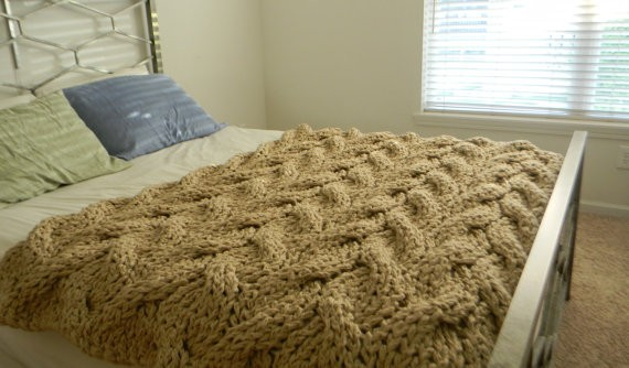 Knitting Patterns For Chunky Wool Blankets : Chunky Knit Blanket Pattern A Knitting Blog