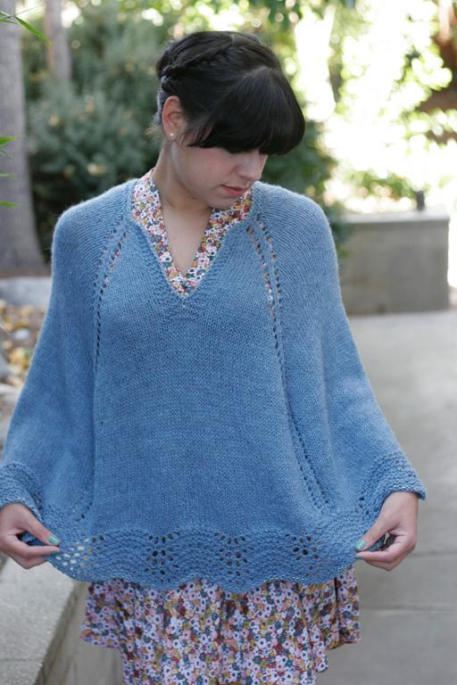 Pattern For Knitted Poncho : Poncho Knitting Patterns A Knitting Blog