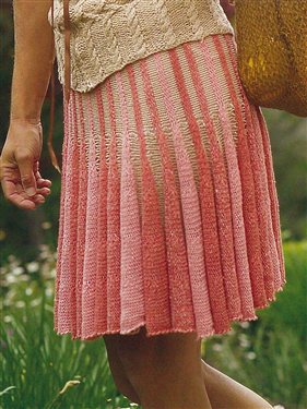 Knit Skirt Pattern A Knitting Blog
