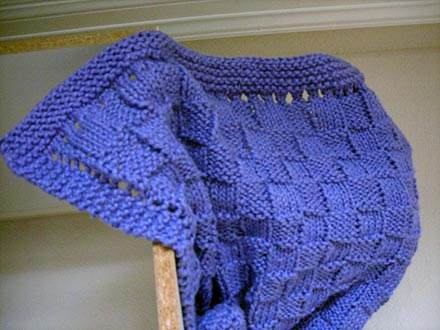 Knitting Pattern For Baby Blanket Easy : Basket Weave Knitting Patterns A Knitting Blog