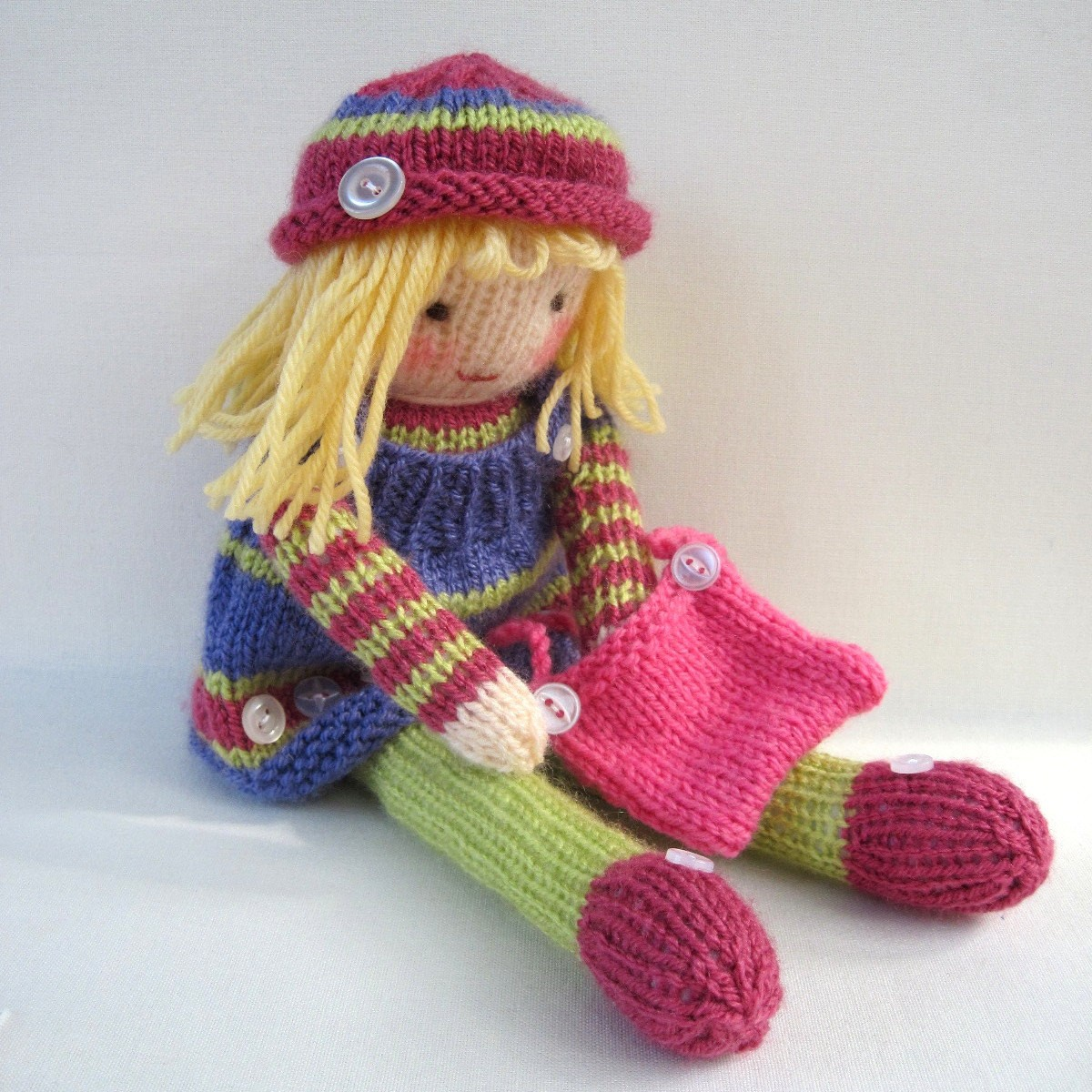Free Knitting Patterns For Beginners Toys : Knitted Doll Patterns A Knitting Blog