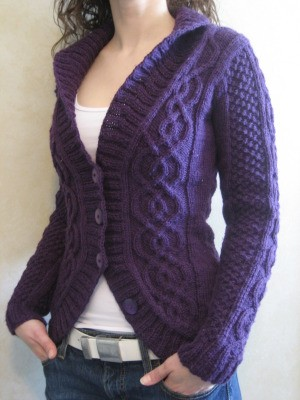 Knitting Patterns For Cardigan Sweaters : Knit Cardigan Pattern A Knitting Blog