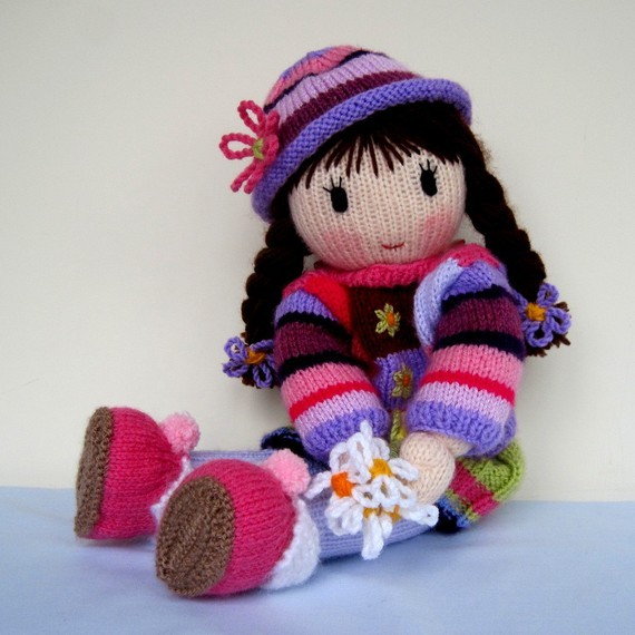 Free Knitted Doll Pattern : Knitted Doll Patterns A Knitting Blog