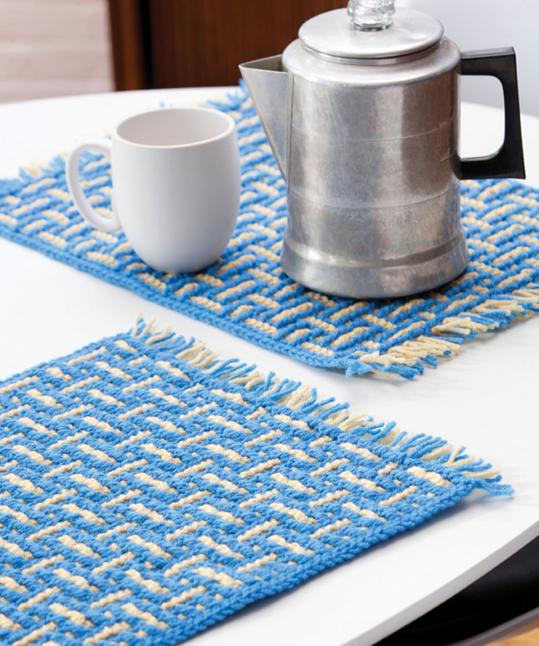 Crocheting Placemats : Placemat Weaving Patterns Placemat Knitting Pattern