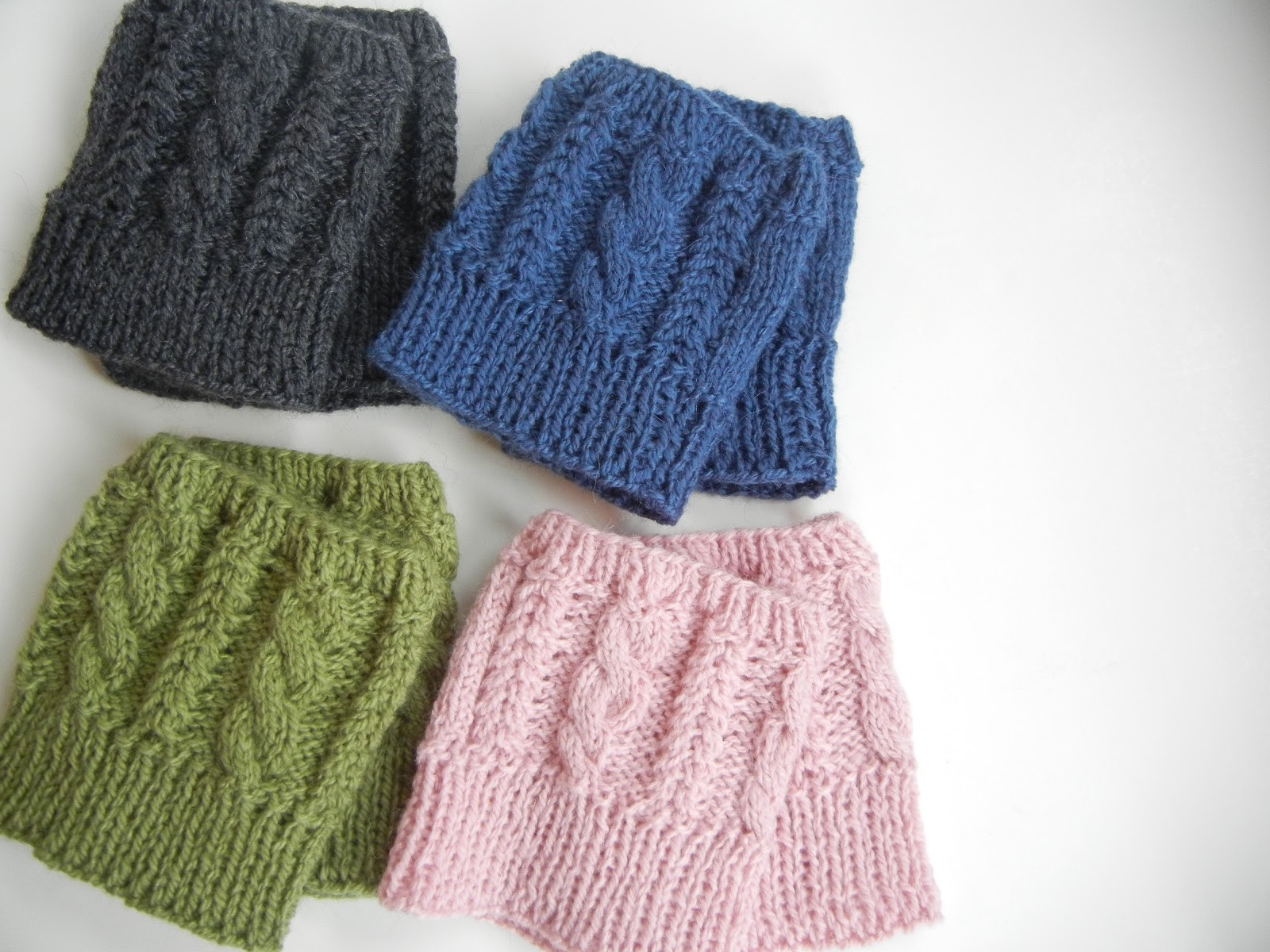 Knit Boot Cuffs Free Pattern