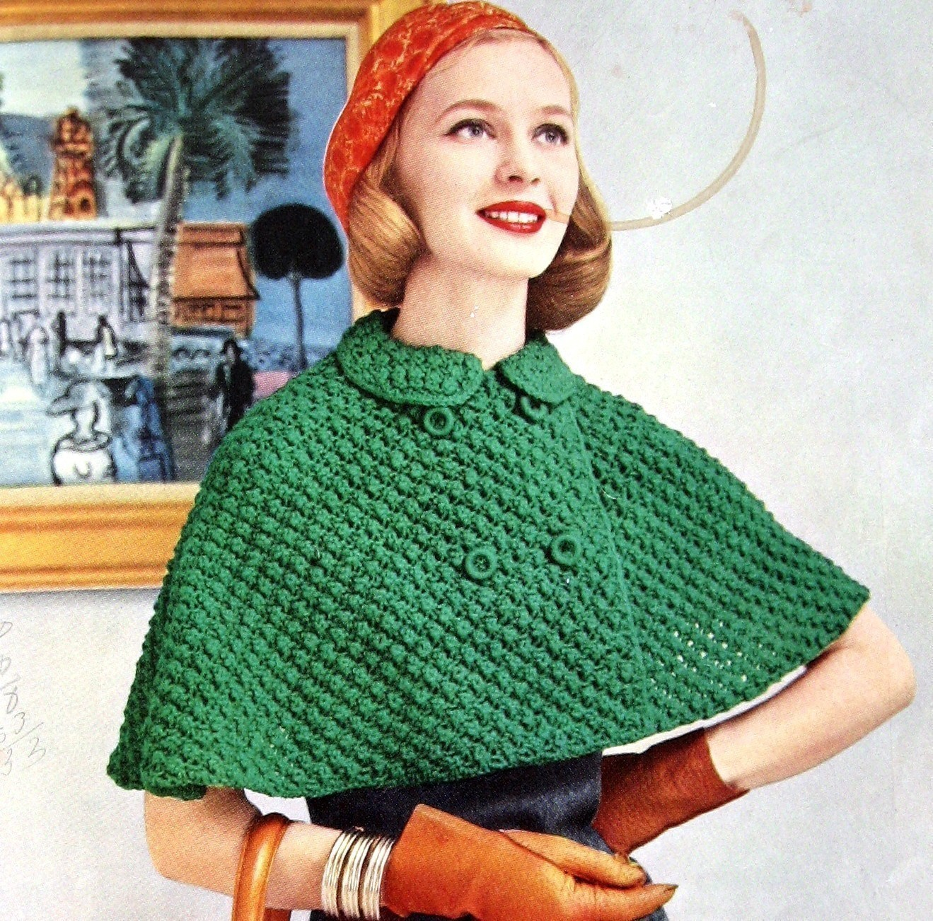 Knitting Patterns For Capes : Knitted Cape Pattern A Knitting Blog