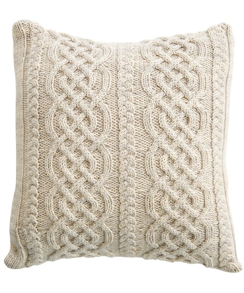 Aran Knitting Patterns : Celtic Aran Pillow Knitting Pattern Photos