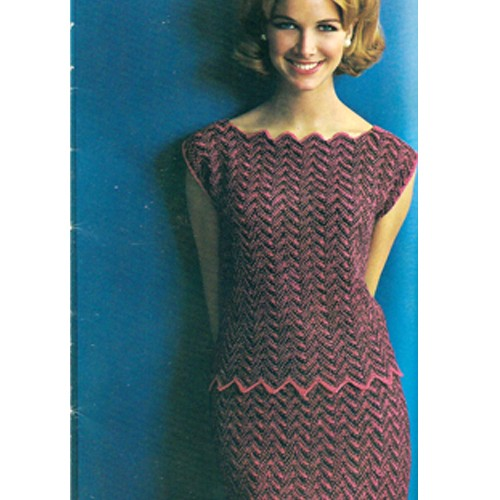 Knitting Dress Pattern : Knitted Chevron Pattern Dress A Knitting Blog