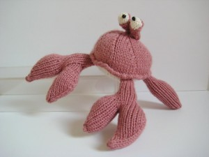 Images of Crab Toy Knitting Pattern