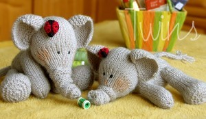 Elephants Knitting Pattern Photos