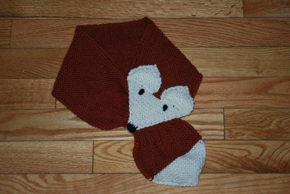 Knitting Pattern Fox Scarf : Knitted Fox Scarf Pattern A Knitting Blog