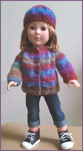 Free Knitting Patterns Doll Clothes American Girl : Knitting Patterns for American Girl Dolls A Knitting Blog