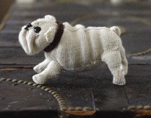 Free Dog Animal Knitted Pattern Picture