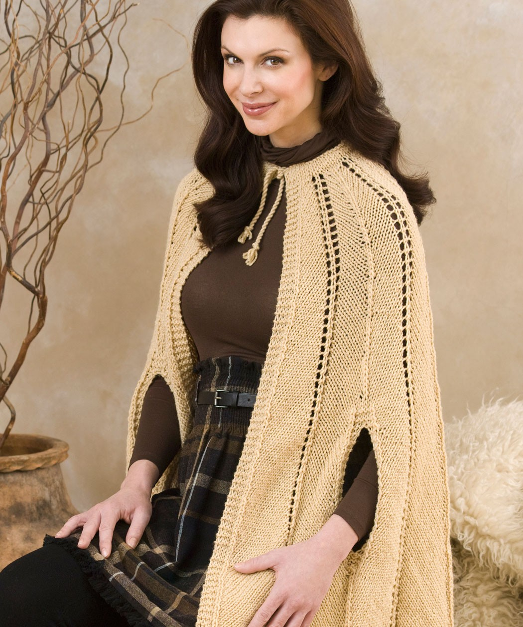 Knitting Pattern For A Cape : Knitted Cape Pattern A Knitting Blog
