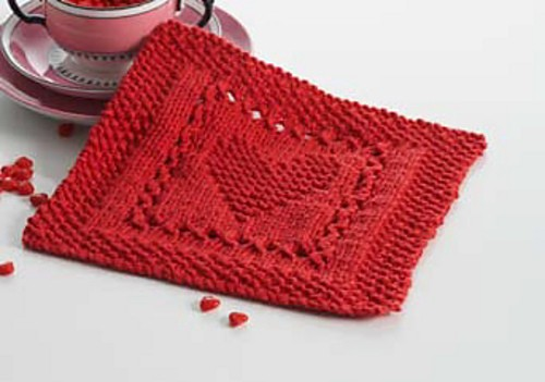 Dishcloth Knit Patterns Free : Heart Knitting Pattern A Knitting Blog