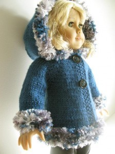 Hooded American Doll Jacket Knitting Pattern Image