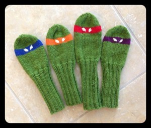 Knitting Pattern For Ninja Turtles : Knit Golf Head Covers Pattern A Knitting Blog