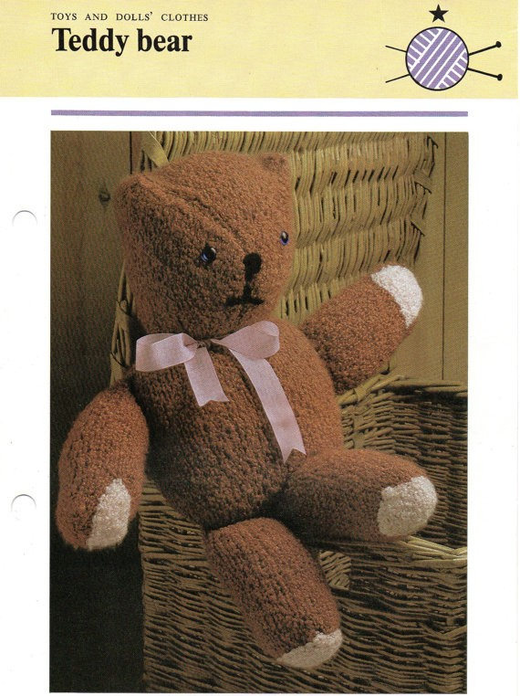 Teddy Bear Knitting Patterns A Knitting Blog