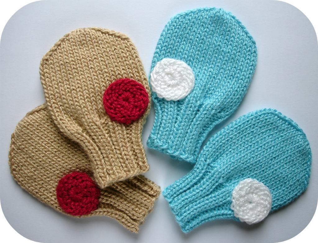 Knitted Baby Mittens Simple Pattern : Baby Mittens Knitting Patterns A Knitting Blog