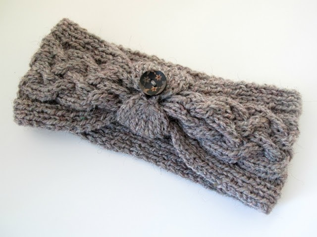 Knitted Headband With Button Pattern : Knit Headband Patterns with Button A Knitting Blog