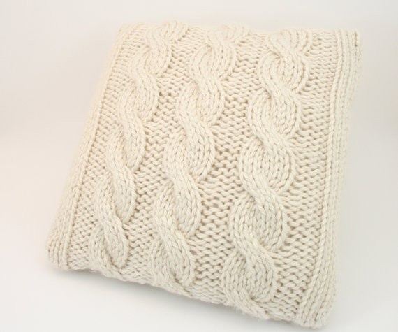 Knitting Pattern For Round Cushion Cover : Cable Knit Pillow Cover Patterns A Knitting Blog