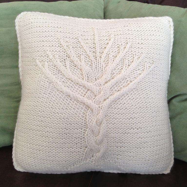 Knitting Pattern For Cushion Covers : Cable Knit Pillow Cover Patterns A Knitting Blog