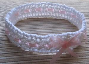 Free Crochet Baby Headband Pattern | JJCrochet