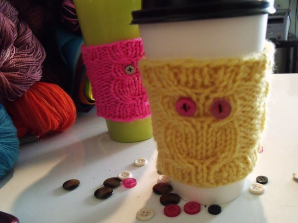 Knit Coffee Cozy Patterns | A Knitting Blog