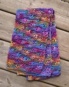 Easy Drop Stitch Scarf Pattern Image