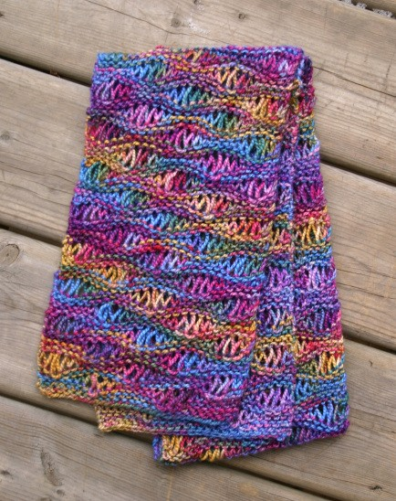 Drop Stitch Scarf Knit Pattern : Drop Stitch Scarf Pattern A Knitting Blog