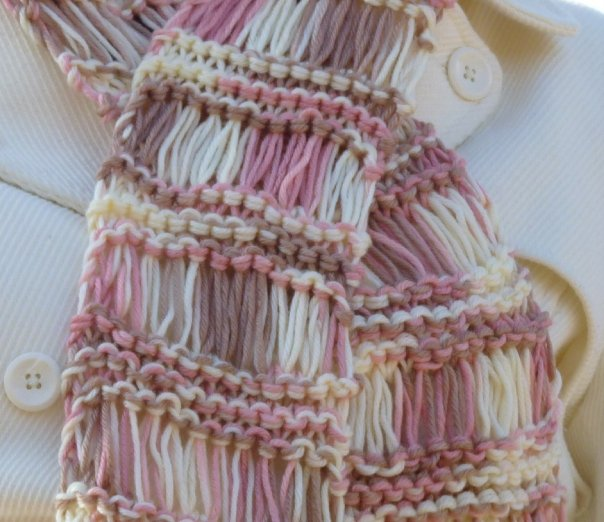 Drops Knitting Patterns : Drop Stitch Scarf Pattern A Knitting Blog