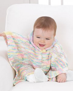 Free Baby Poncho Knitted Pattern Photo