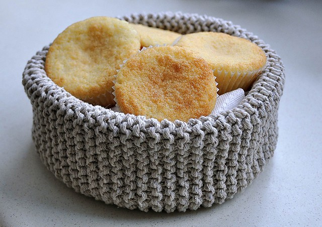 Letter Knitting Patterns : Knitted Basket Pattern - Bing images