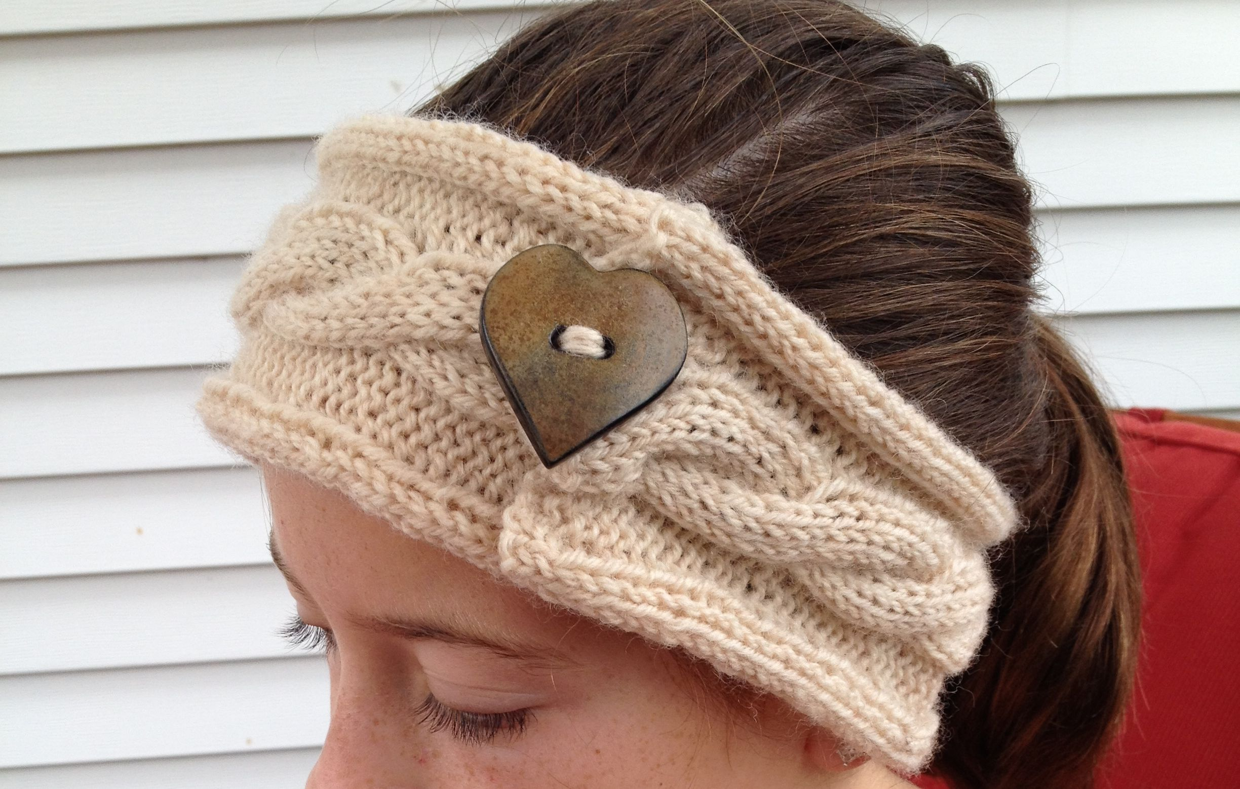 Free Knitting Pattern Headband : Knit Headband Patterns with Button A Knitting Blog
