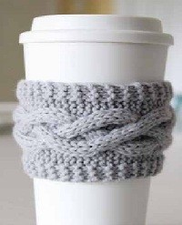 Free Knitted Coffee Cozy Pattern Images