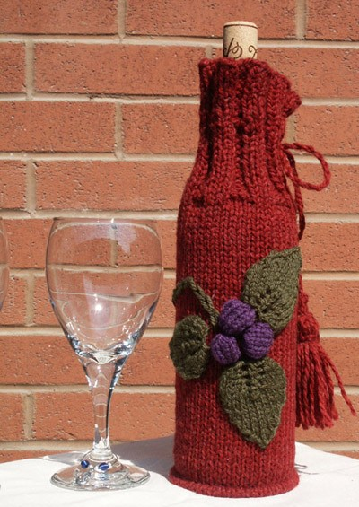 Wine Bottle Cozy Knitting Pattern : Knitted Wine Bottle Cover Patterns A Knitting Blog