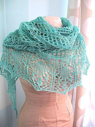 Lace Shawl Knitting Pattern A Knitting Blog