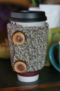 Knit Coffee Cozy Pattern Photos