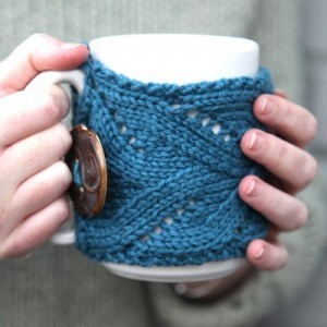 Photos of Knit Coffee Cup Cozy