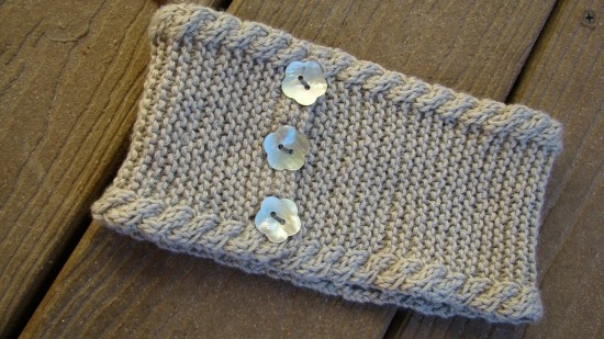 Knit Headband Patterns with Button A Knitting Blog